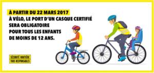 Casque obligatoire à vélo pour les moins de 12 ans